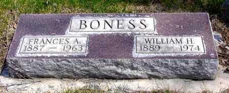 BONESS, FRANCES A. - Box Butte County, Nebraska | FRANCES A. BONESS - Nebraska Gravestone Photos