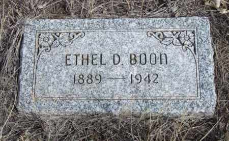 BOON, ETHEL D. - Box Butte County, Nebraska | ETHEL D. BOON - Nebraska Gravestone Photos