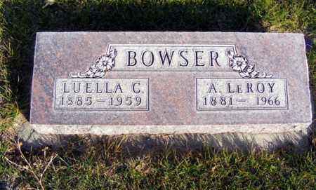 BOWSER, A. LEROY - Box Butte County, Nebraska | A. LEROY BOWSER - Nebraska Gravestone Photos