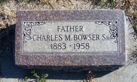 BOWSER, CHARLES M. SR. - Box Butte County, Nebraska | CHARLES M. SR. BOWSER - Nebraska Gravestone Photos