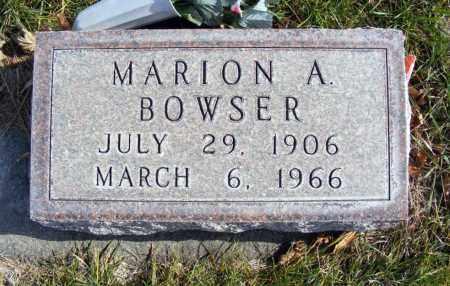 BOWSER, MARION A. - Box Butte County, Nebraska   MARION A. BOWSER - Nebraska Gravestone Photos