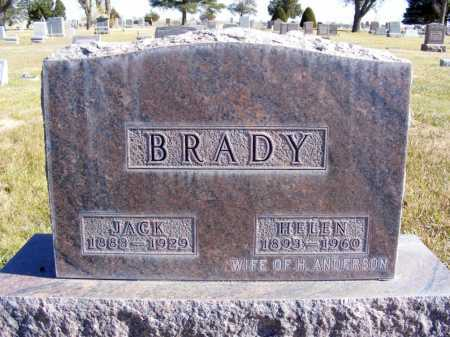 LEDGERWOOD BRADY, HELEN - Box Butte County, Nebraska | HELEN LEDGERWOOD BRADY - Nebraska Gravestone Photos