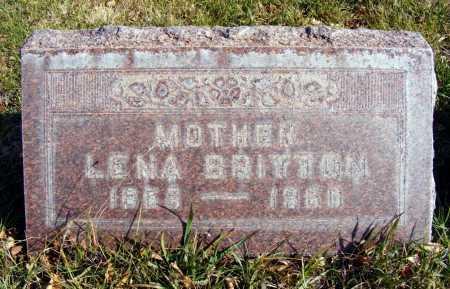 BRITTON, LENA - Box Butte County, Nebraska | LENA BRITTON - Nebraska Gravestone Photos