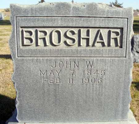 BROSHAR, JOHN W. - Box Butte County, Nebraska | JOHN W. BROSHAR - Nebraska Gravestone Photos