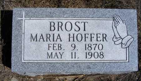 BROST, MARIA - Box Butte County, Nebraska | MARIA BROST - Nebraska Gravestone Photos