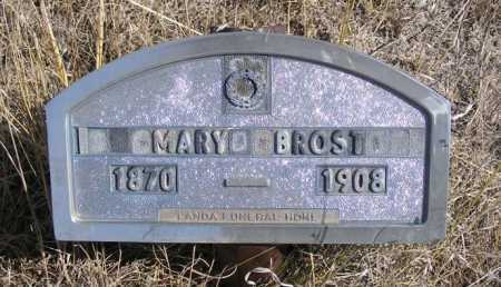 BROST, MARY - Box Butte County, Nebraska | MARY BROST - Nebraska Gravestone Photos
