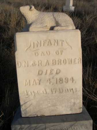 BROWER, INFANT DAU OF D.N. & R.A. - Box Butte County, Nebraska | INFANT DAU OF D.N. & R.A. BROWER - Nebraska Gravestone Photos