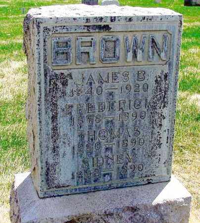 BROWN, FREDERICK - Box Butte County, Nebraska | FREDERICK BROWN - Nebraska Gravestone Photos