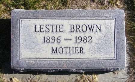 BROWN, LESTIE - Box Butte County, Nebraska   LESTIE BROWN - Nebraska Gravestone Photos
