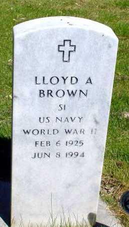 BROWN, LLOYD A. - Box Butte County, Nebraska | LLOYD A. BROWN - Nebraska Gravestone Photos