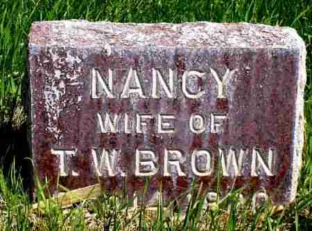 BROWN, NANCY - Box Butte County, Nebraska   NANCY BROWN - Nebraska Gravestone Photos