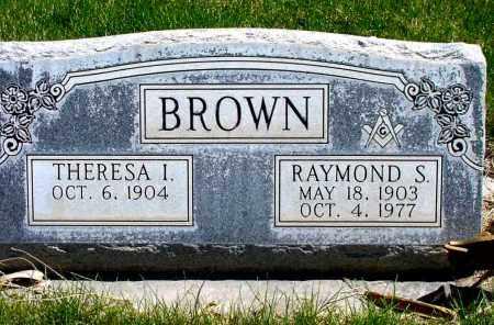 BROWN, THERESA I. - Box Butte County, Nebraska | THERESA I. BROWN - Nebraska Gravestone Photos