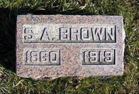 BROWN, S.A. - Box Butte County, Nebraska   S.A. BROWN - Nebraska Gravestone Photos