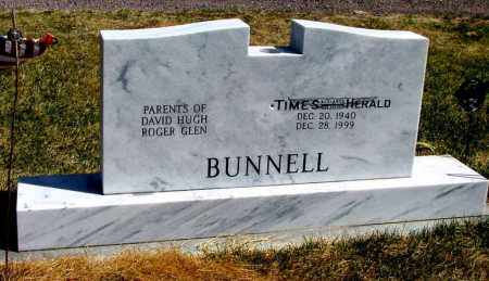 BUNNELL, BACKSIDE OF STONE - Box Butte County, Nebraska | BACKSIDE OF STONE BUNNELL - Nebraska Gravestone Photos