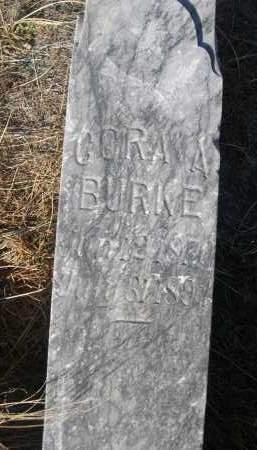 BURKE, CORA A. - Box Butte County, Nebraska | CORA A. BURKE - Nebraska Gravestone Photos
