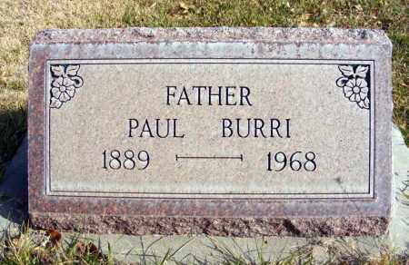 BURRI, PAUL - Box Butte County, Nebraska | PAUL BURRI - Nebraska Gravestone Photos