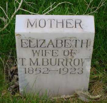 BURROW, ELIZABETH - Box Butte County, Nebraska | ELIZABETH BURROW - Nebraska Gravestone Photos