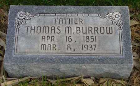 BURROW, THOMAS M. - Box Butte County, Nebraska   THOMAS M. BURROW - Nebraska Gravestone Photos