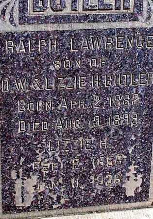 BUTLER, LIZZIE H. (CLOSEUP VIEW) - Box Butte County, Nebraska | LIZZIE H. (CLOSEUP VIEW) BUTLER - Nebraska Gravestone Photos