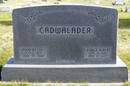 CADWALADER, GEORGE ALBERT - Box Butte County, Nebraska | GEORGE ALBERT CADWALADER - Nebraska Gravestone Photos
