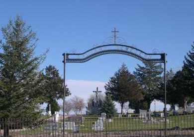*CALVARY CEMETERY, ENTRANCE SIGN - Box Butte County, Nebraska | ENTRANCE SIGN *CALVARY CEMETERY - Nebraska Gravestone Photos