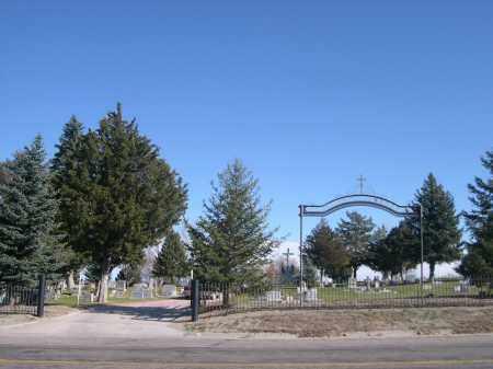 *CALVARY CEMETERY, ENTRANCE TO - Box Butte County, Nebraska   ENTRANCE TO *CALVARY CEMETERY - Nebraska Gravestone Photos
