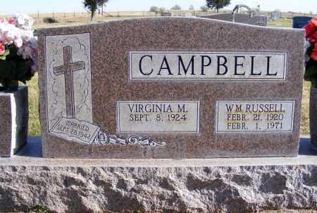 CAMPBELL, WILLIAM RUSSELL - Box Butte County, Nebraska | WILLIAM RUSSELL CAMPBELL - Nebraska Gravestone Photos