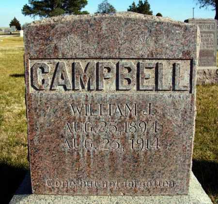 CAMPBELL, WILLIAM J. - Box Butte County, Nebraska | WILLIAM J. CAMPBELL - Nebraska Gravestone Photos