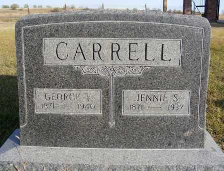 SEPTER CARRELL, JENNIE S. - Box Butte County, Nebraska   JENNIE S. SEPTER CARRELL - Nebraska Gravestone Photos