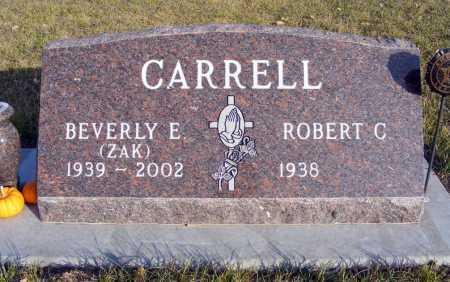 ZAK CARRELL, BEVERLY E. - Box Butte County, Nebraska | BEVERLY E. ZAK CARRELL - Nebraska Gravestone Photos