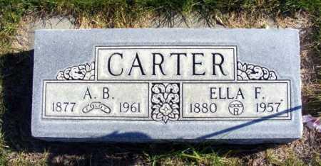 CARTER, ELLA F. - Box Butte County, Nebraska | ELLA F. CARTER - Nebraska Gravestone Photos