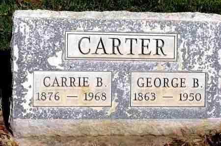 CARTER, GEORGE B. - Box Butte County, Nebraska   GEORGE B. CARTER - Nebraska Gravestone Photos