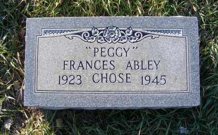 "ABLEY CHOSE, FRANCES ""PEGGY"" - Box Butte County, Nebraska 