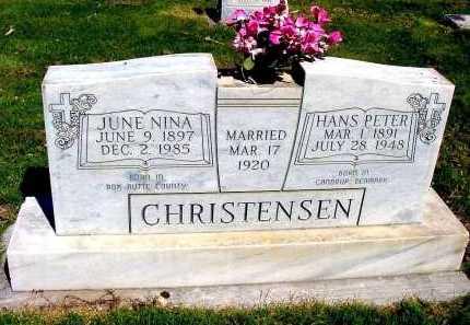 CHRISTENSEN, HANS PETER - Box Butte County, Nebraska | HANS PETER CHRISTENSEN - Nebraska Gravestone Photos