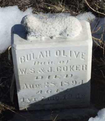 COKER, BULAH OLIVE - Box Butte County, Nebraska | BULAH OLIVE COKER - Nebraska Gravestone Photos