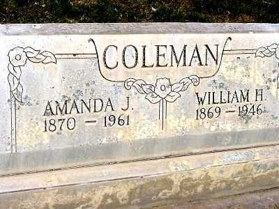 COLEMAN, AMANDA J. - Box Butte County, Nebraska | AMANDA J. COLEMAN - Nebraska Gravestone Photos