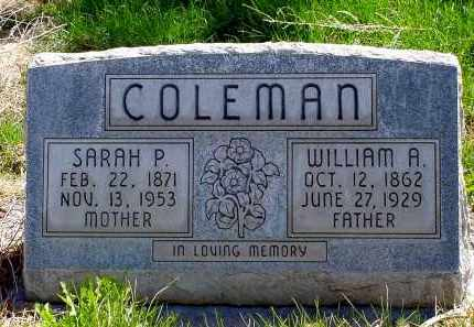 COLEMAN, WILLIAM A. - Box Butte County, Nebraska | WILLIAM A. COLEMAN - Nebraska Gravestone Photos