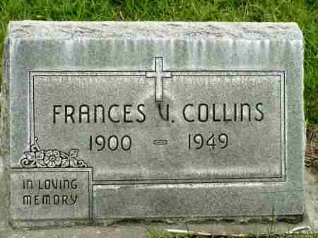 COLLINS, FRANCES V. - Box Butte County, Nebraska | FRANCES V. COLLINS - Nebraska Gravestone Photos