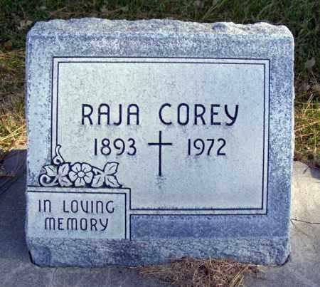 COREY, RAJA - Box Butte County, Nebraska | RAJA COREY - Nebraska Gravestone Photos
