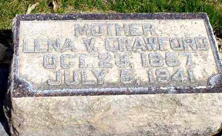 CRAWFORD, LENA V. - Box Butte County, Nebraska | LENA V. CRAWFORD - Nebraska Gravestone Photos