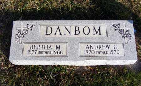 DANBOM, ANDREW G. - Box Butte County, Nebraska   ANDREW G. DANBOM - Nebraska Gravestone Photos