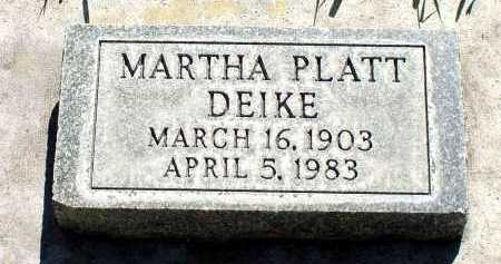 DEIKE, MARTHA - Box Butte County, Nebraska | MARTHA DEIKE - Nebraska Gravestone Photos