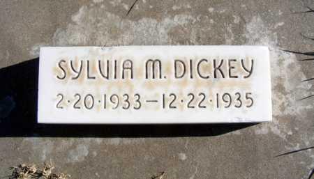 DICKEY, SYLVIA M. - Box Butte County, Nebraska | SYLVIA M. DICKEY - Nebraska Gravestone Photos