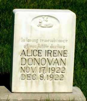 DONOVAN, ALICE IRENE - Box Butte County, Nebraska   ALICE IRENE DONOVAN - Nebraska Gravestone Photos
