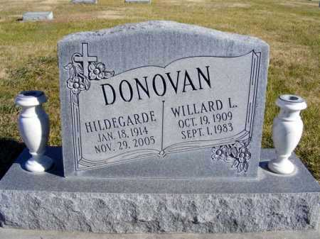 DONOVAN, WILLARD L. - Box Butte County, Nebraska | WILLARD L. DONOVAN - Nebraska Gravestone Photos