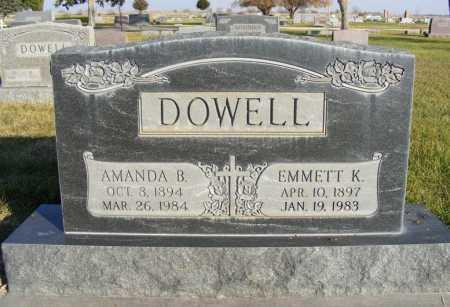 DAVIG DOWELL, AMANDA B. - Box Butte County, Nebraska | AMANDA B. DAVIG DOWELL - Nebraska Gravestone Photos