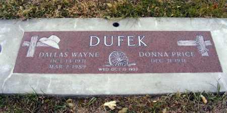 DUFEK, DONNA - Box Butte County, Nebraska | DONNA DUFEK - Nebraska Gravestone Photos