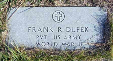 DUFEK, FRANK R. - Box Butte County, Nebraska | FRANK R. DUFEK - Nebraska Gravestone Photos