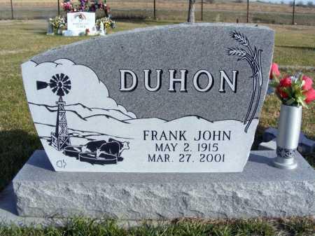DUHON, FRANK JOHN - Box Butte County, Nebraska   FRANK JOHN DUHON - Nebraska Gravestone Photos