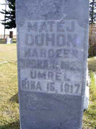 DUHON, MATEJ - Box Butte County, Nebraska | MATEJ DUHON - Nebraska Gravestone Photos